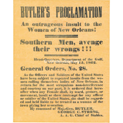 Butler's Proclamation 1862