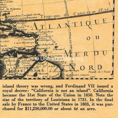 California - Historical Maps 1636 and 1731 – store.ushistory.org on