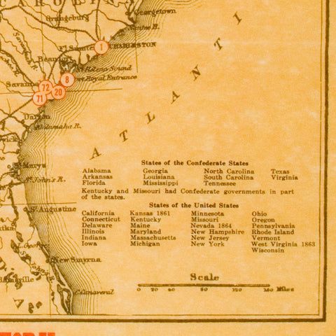 Civil War Battlefields Map Poster [large poster size] – store ...