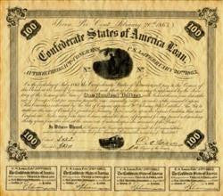 Confederate War Bond 1863