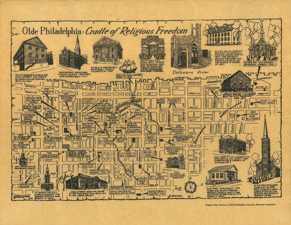 Cradle of Religious Freedom Map - Philadelphia Churches