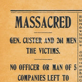 First Account of the Custer Massacre - Tribune Extra July 6, 1876