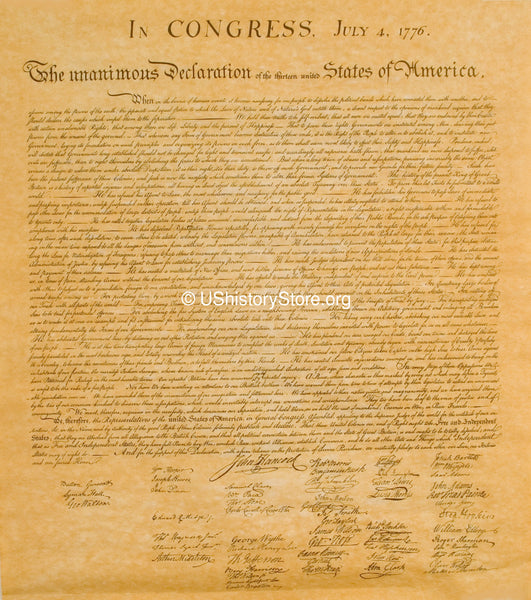"Declaration of Independence Replica - Big 23"" x 29"" Parchment Poster"