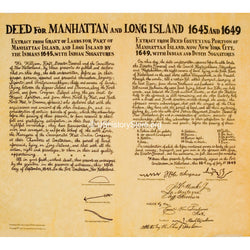 Deeds for Manhattan 1645 & Long Island 1649