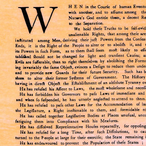 photo about Printable Declaration of Independence Text named Dunlap Declaration - initial released variation of the