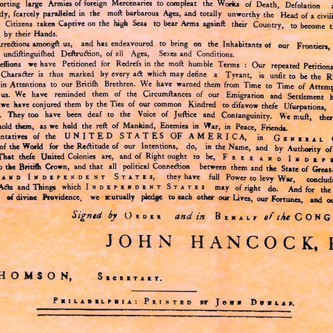 This is a graphic of Printable Copy of the Declaration of Independence throughout easy