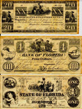 Florida Replica Currency 1832-1863