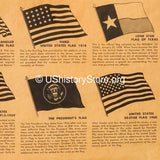 History of Famous American Flags Poster [Large Poster Size]