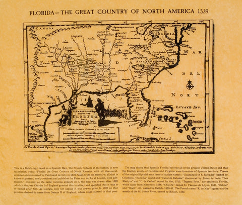 Florida - Historical Map 1539