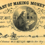 "Benjamin Franklin - ""The Art of Making Money Plenty"" Rebus"
