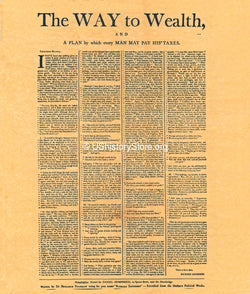 Benjamin Franklin - The Way to Wealth - Poster