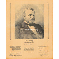 Ulysses S. Grant - Portrait and Thoughts