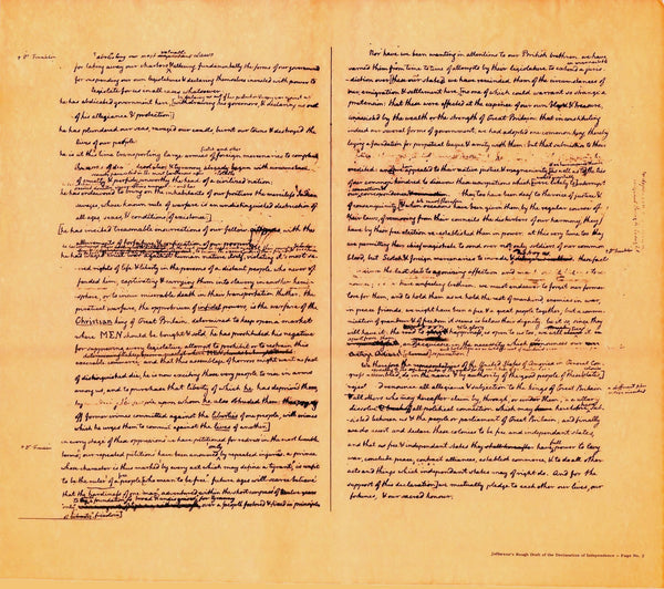 Jefferson's Rough Draft of the Declaration of Independence