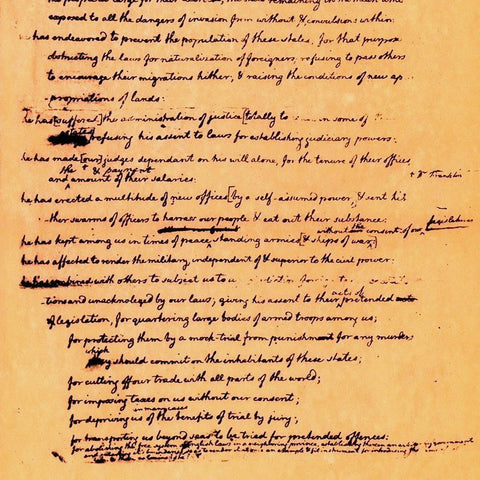 declaration of independence rough draft summary The declaration of independence and the debate over slavery when thomas jefferson included a passage attacking slavery in his draft of the declaration of independence.