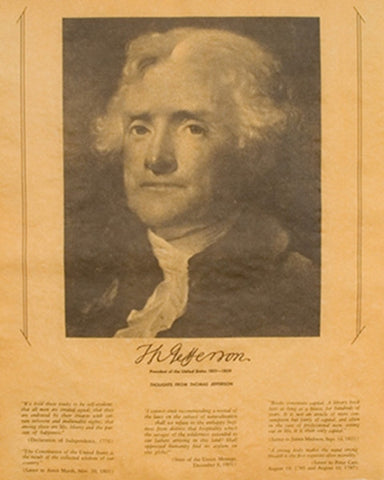 Thomas Jefferson - Portrait and Thoughts