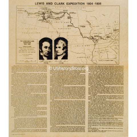 Lewis and Clark's Expedition 1804 to 1808