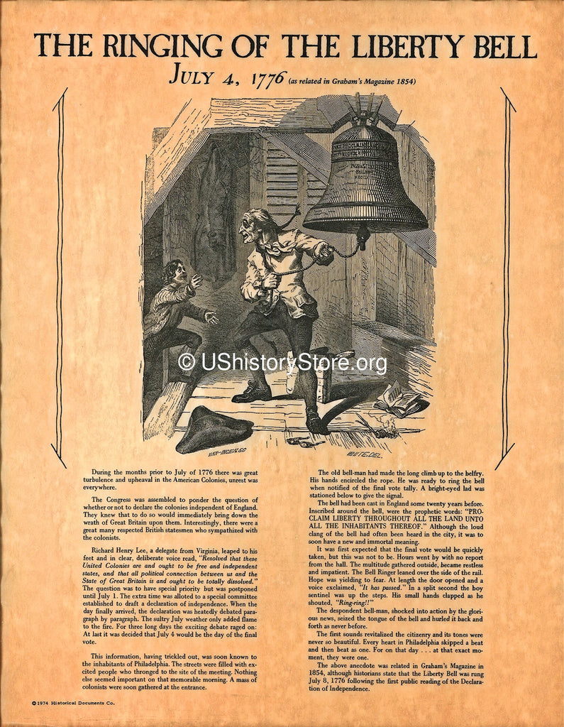 Ringing Of The Liberty Bell Store Ushistory Org