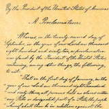 Abraham Lincoln - Emancipation Proclamation 1863