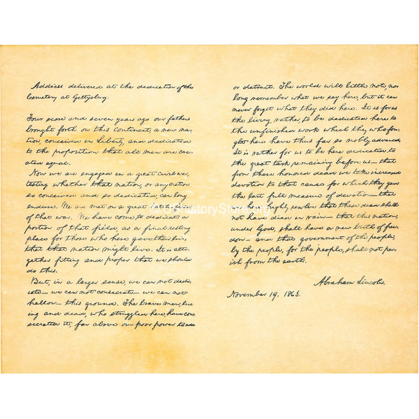 The Gettysburg Address by President Abraham Lincoln, 1863