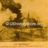 Naval Battle Between the Merrimac and the Monitor 1862