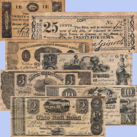 Ohio Replica Currency and Script 1803-1845