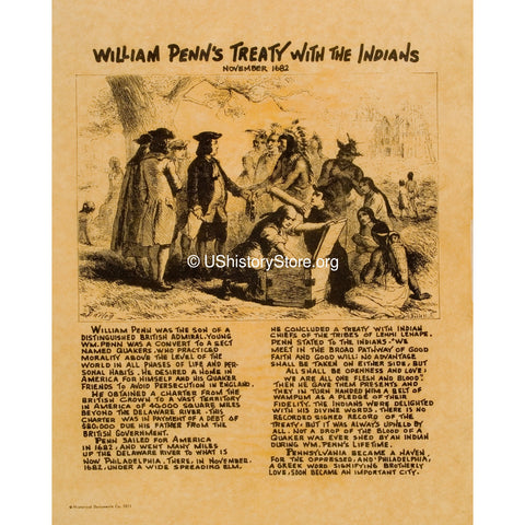 William Penn - Treaty With the Indians 1682