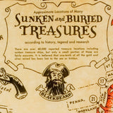 Pirate Treasure Map of Sunken and Buried Treasure [small poster size]