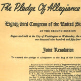 Pledge of Allegiance to the Flag 1954