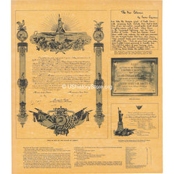 Statue of Liberty Deed & More 1884
