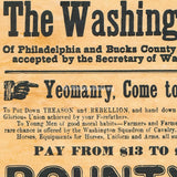The Washington Cavalry Civil War Recruiting Poster (To Horse, To Horse)