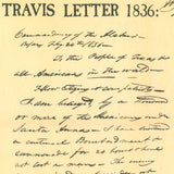 "Travis ""Victory or Death"" letter from The Alamo 1836 TEXAS"