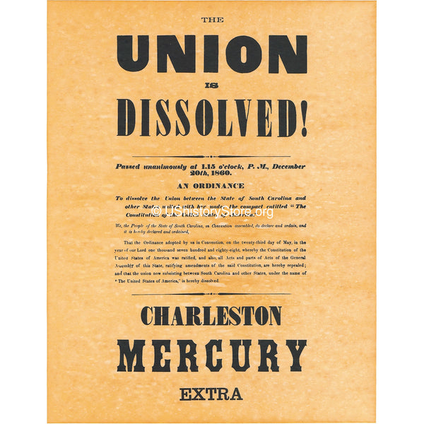 The Union Is Dissolved 1860 poster