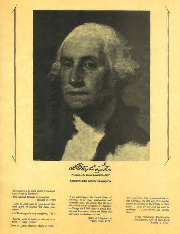 George Washington - Portrait and Thoughts