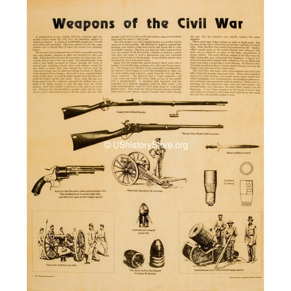 Weapons of the Civil War [small poster size]