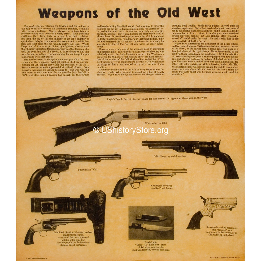 Weapons Of The Old West 1800 S Store Ushistory Org