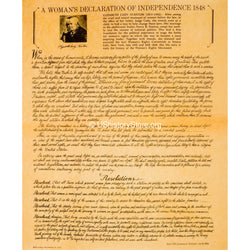 Woman's Declaration of Independence 1848