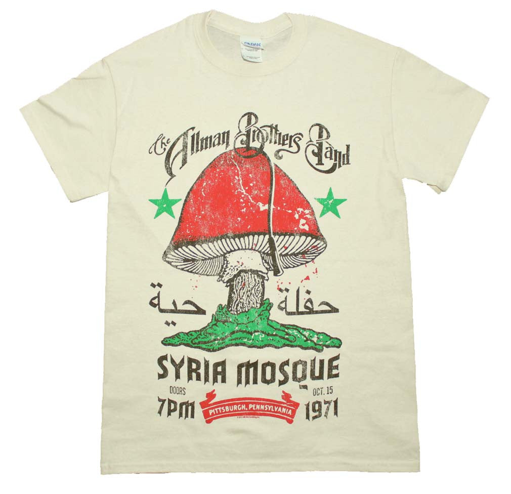 Allman Brothers Syria Mosque T-Shirt Small - X Large