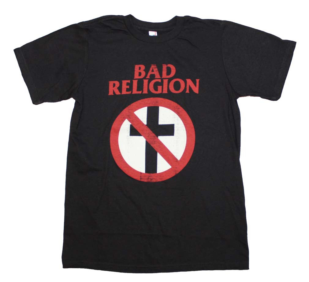 Bad Religion Distressed Crossbuster T-Shirt Small - X Large