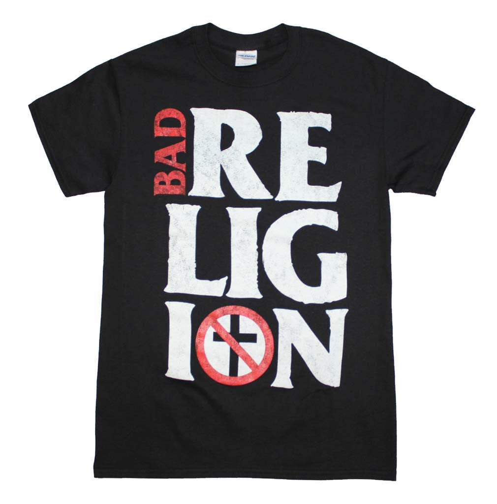Bad Religion Stacked Logo T-Shirt Small - X Large