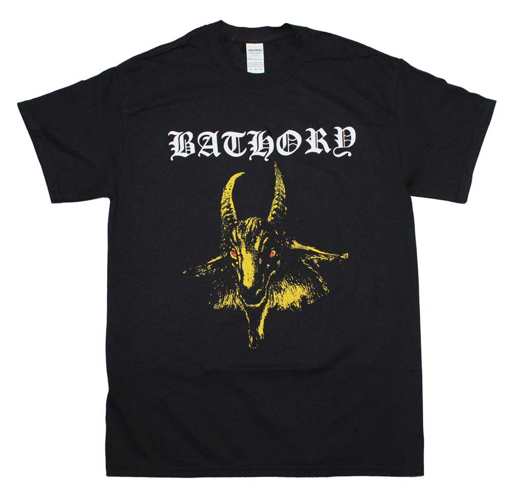 Bathory Yellow Goat T-Shirt Small - X Large