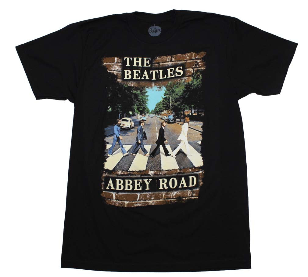 Beatles Abbey Brick Photo T-Shirt Small - X Large