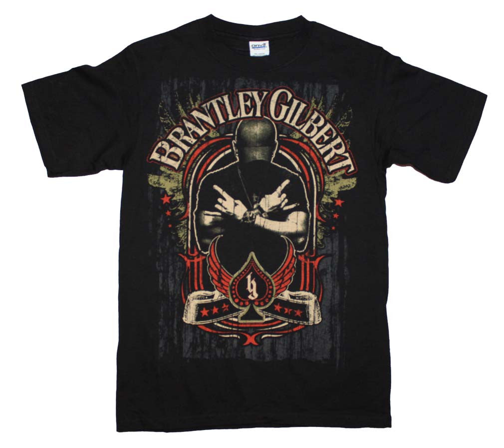 Brantley Gilbert Crossed Arms T-Shirt Small - X-Large