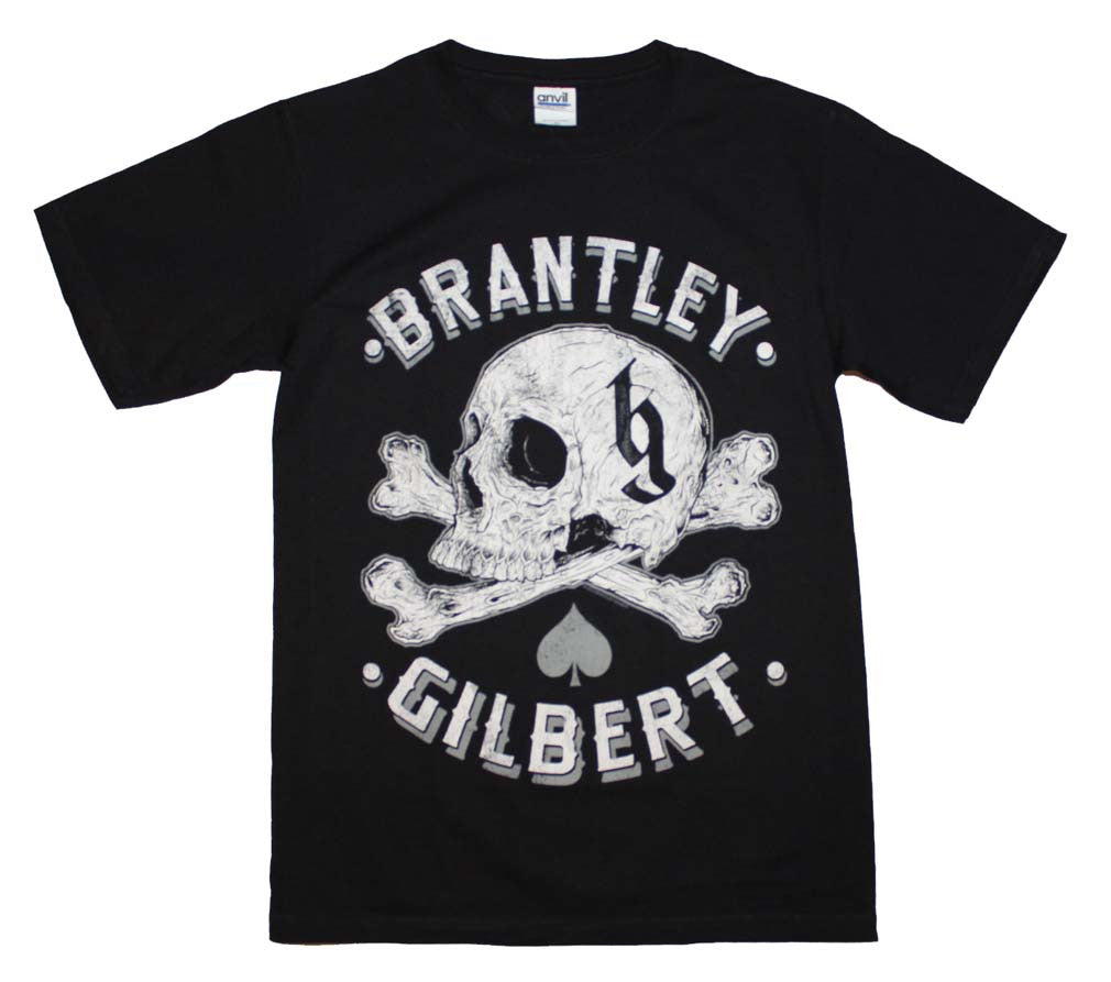 Brantley Gilbert Skull T-Shirt Small - X-Large