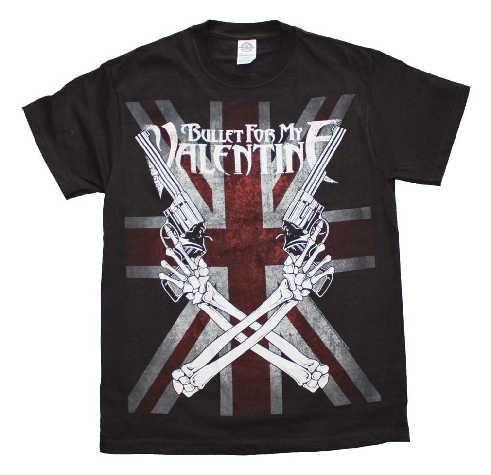 Bullet for my Valentine Crossed Guns T-Shirt Small - X-Large