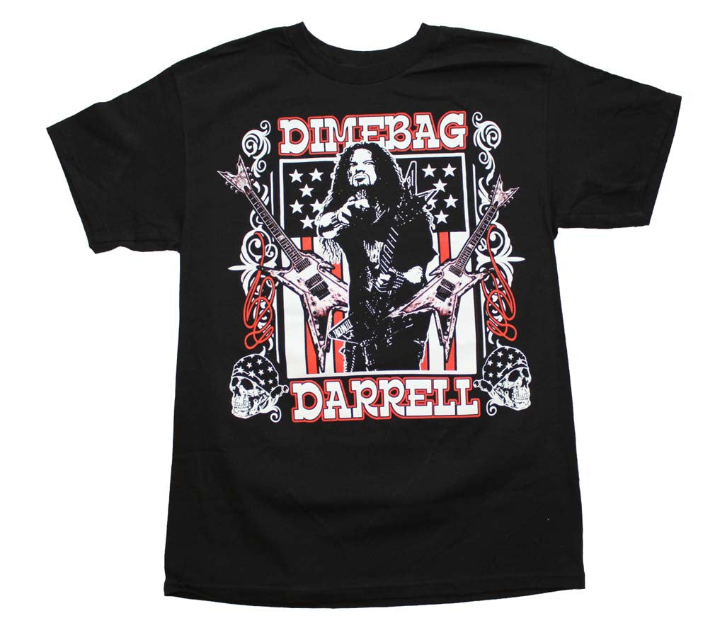 Dimebag Darrell Guitars Flag T-Shirt Small - X-Large