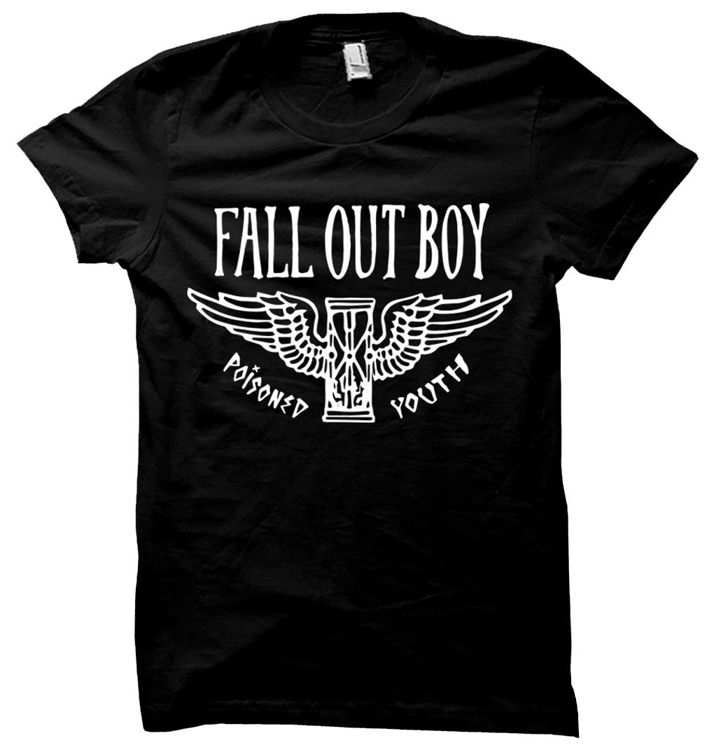 Fall Out Boy Poisoned Youth Hourglass T-Shirt Small - X-Large