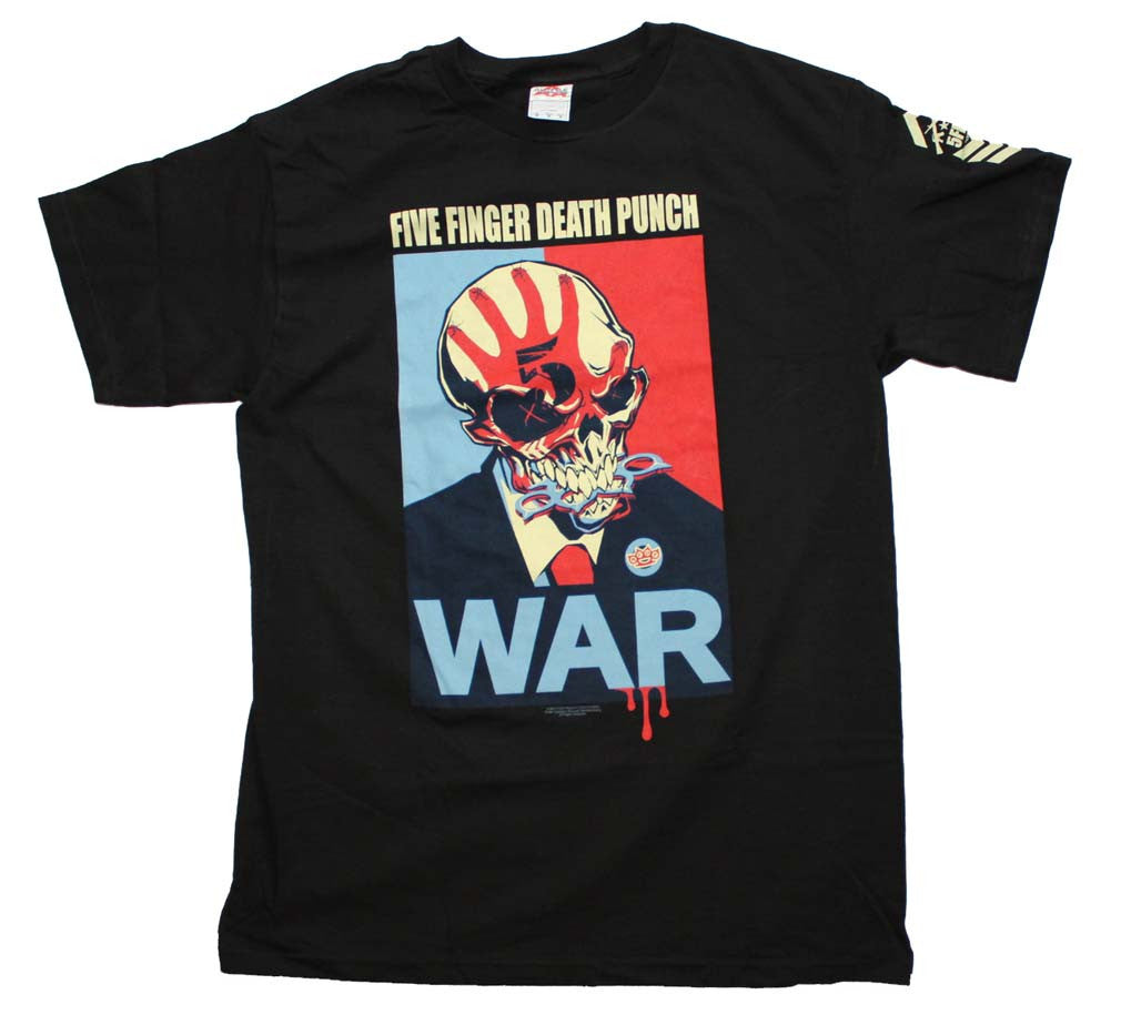 Five Finger Death Punch War T-Shirt Small - X-Large