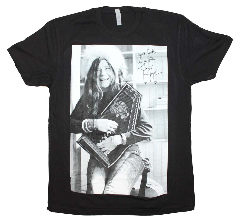 Janis Joplin Good Luck Laugh T-Shirt Small - X-Large