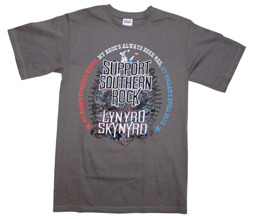 Lynyrd Skynyrd Support Southern Rock T-Shirt Small - X-Large