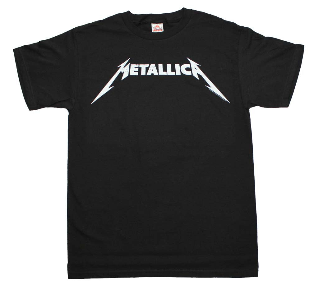 Metallica Black and White Logo T-Shirt Small - X-Large